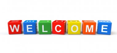 Welcome sign cubes