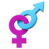 Fotografie männliche und weibliche Sex-symbol