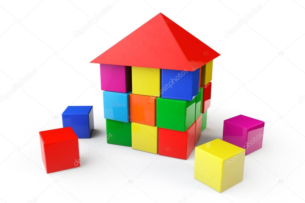House from children cubes