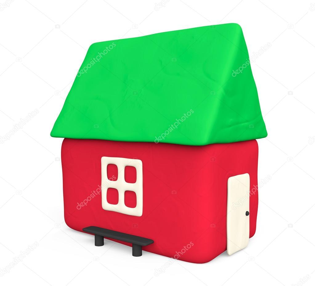 Casa semplice plastilina foto stock doomu 22080963 - La casa semplice ...