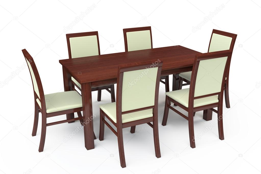 Dining Table With Six Chairs Stock Photo C Doomu 29834341