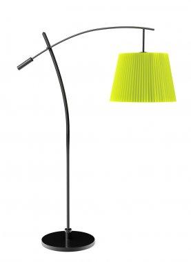 Green balanced floor lamp