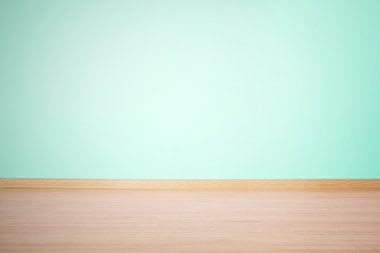 background, blank wall and floor in a blue green color