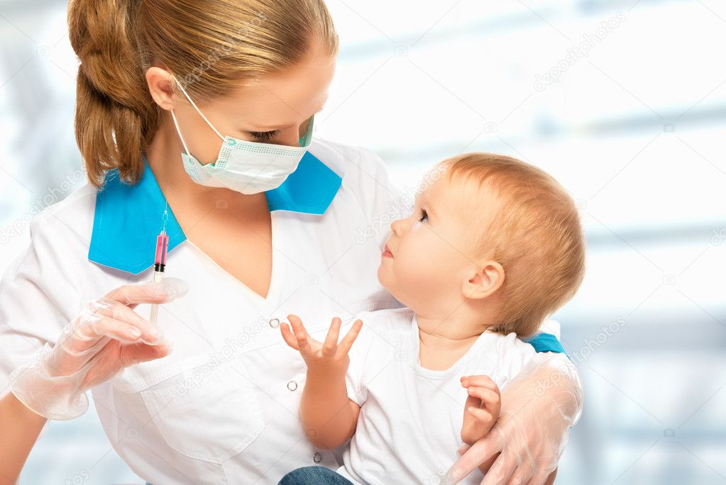 Image result for baby injection doctor
