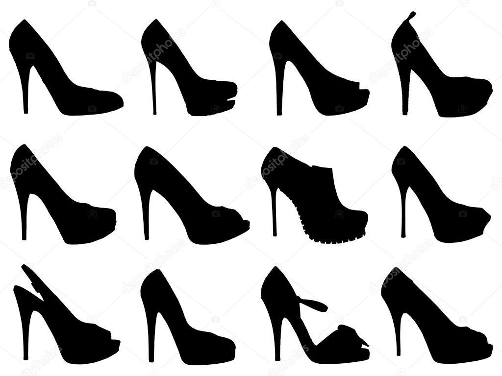 Zapatos De Siluetas Malewitch Mujer © — Fotos Stock 12599404 Negra SSxrZ