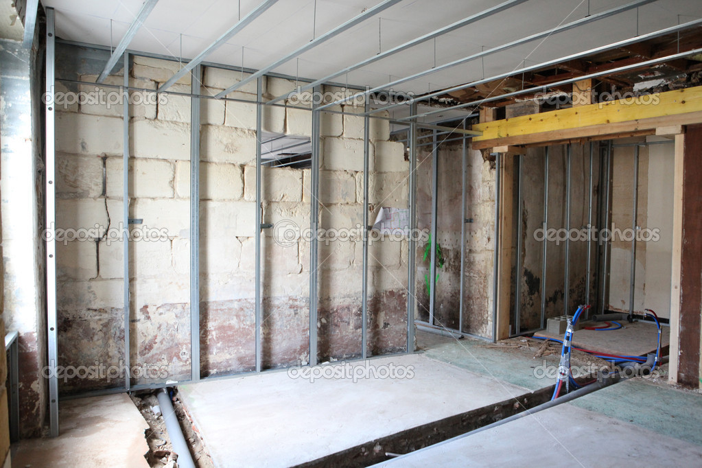 Unfinished interior build — Stock Photo © photography33 ...