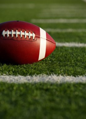American Football near Yard Lines