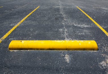 Old Empty Parking Space