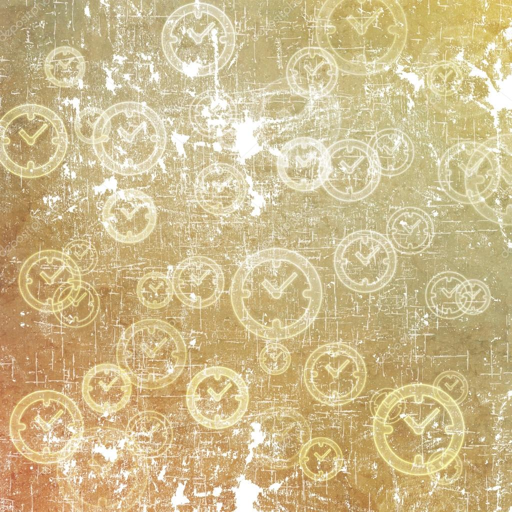 a1129a1d44e Clock icon on old paper background and pattern — Stock Photo © jumpe ...