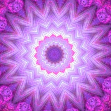 Spiritual mandala wheel or chakra symbol, digital fractal artwork