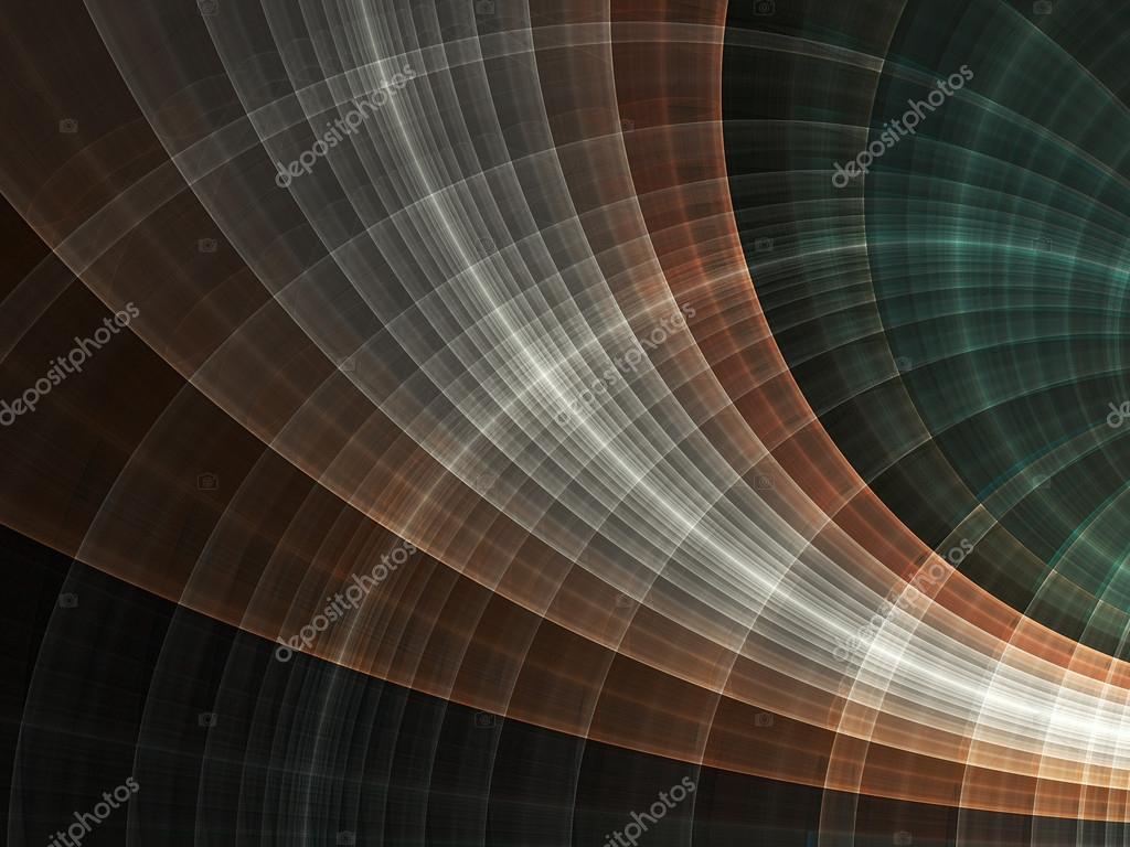 Fractal curved lines, digital artwork for creative graphic design