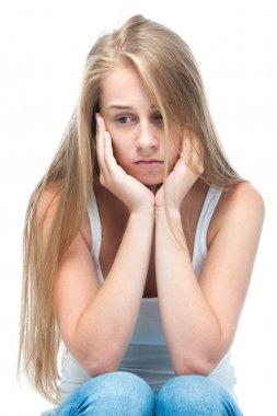 Teenage girl depressed