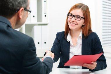 handshake while job interviewing
