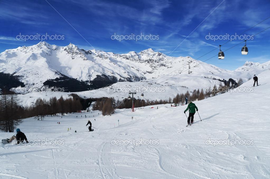 Madesimo ski resort. Val chiavenna. Italy