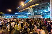 Milan, Olaszország - július 2014: embertömeg san siro labdarúgó-stadion. stadion ad otthont a csapatok a milan és az inter.