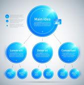 Modrý lesklý kroužek s různými možnostmi