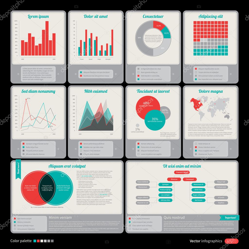 Interface elements. Useful for software, web and infographic ...