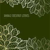 Doodle seamless chestnut leaves background.