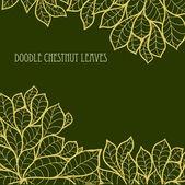 Sfondo di foglie di castagno senza soluzione di continuità di Doodle