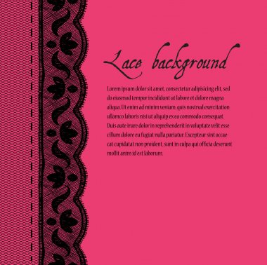 Pink-black lace background