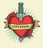 Fotografia cuore in stile tatuaggio
