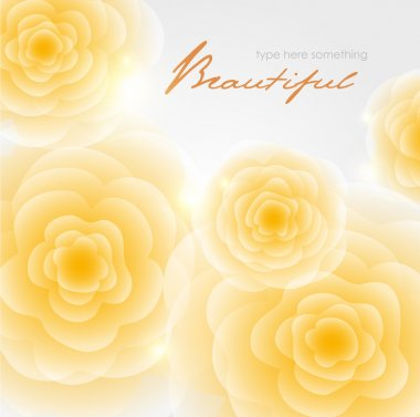 Vintage yellow roses background.