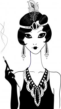Art deco girl.