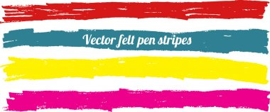 Vector felt pen stripes.