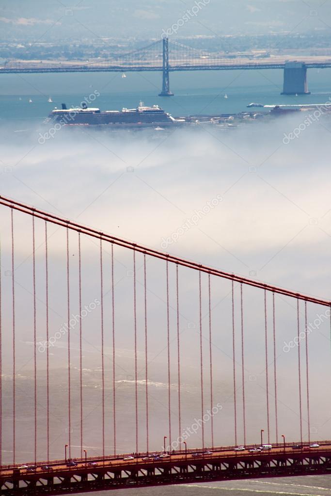 Golden Gate Bridge and Bay Bridge