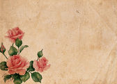 Fotografia bellissimo sfondo retrò vintage con Rose
