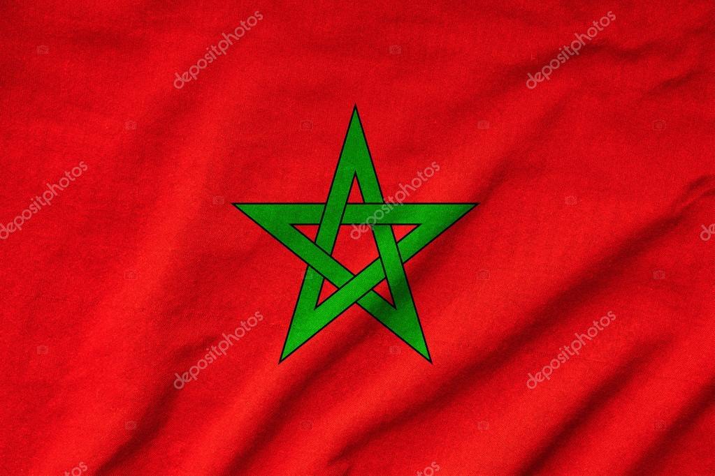 gegolfde marokko vlag stockfoto 169 pinkblue 34168887