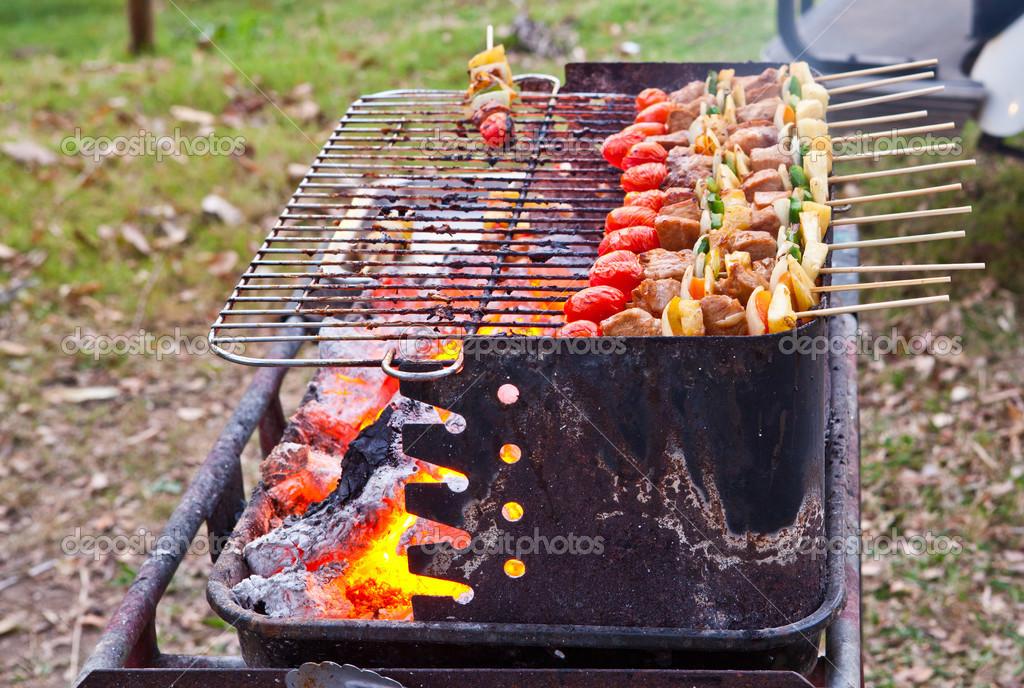 barbacoa americana en horno de encuadre — Foto de stock © pinkblue ...