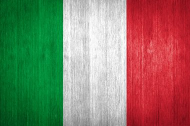 Italy Flag on wood background