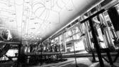 náčrt potrubí design smíšené s fotografiemi průmyslové zařízení