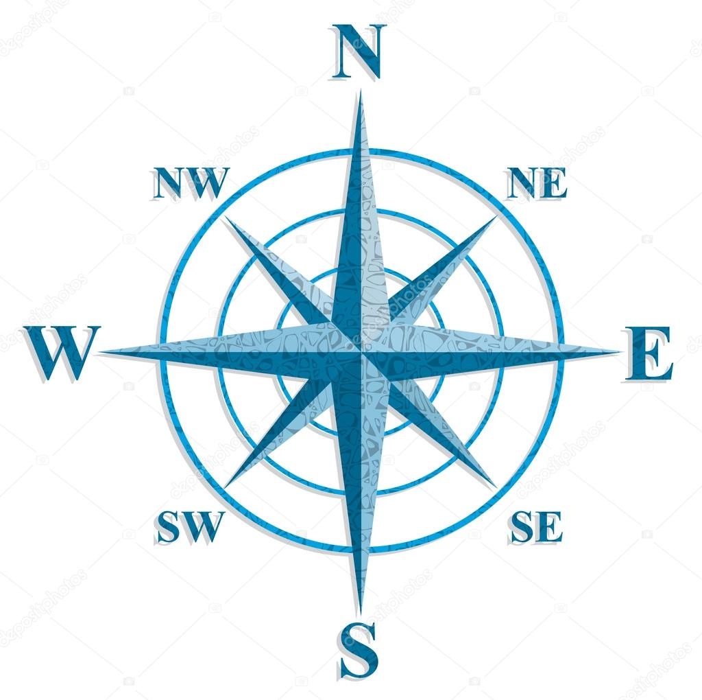 Wind rose. The sign on the old maps.