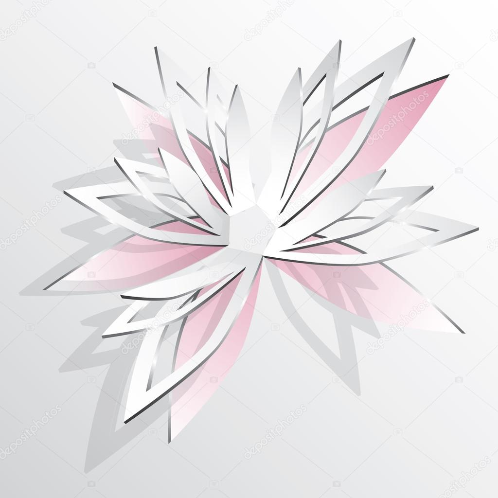Flower Cut Out Of Paper Stock Vector Gray1311 25071875
