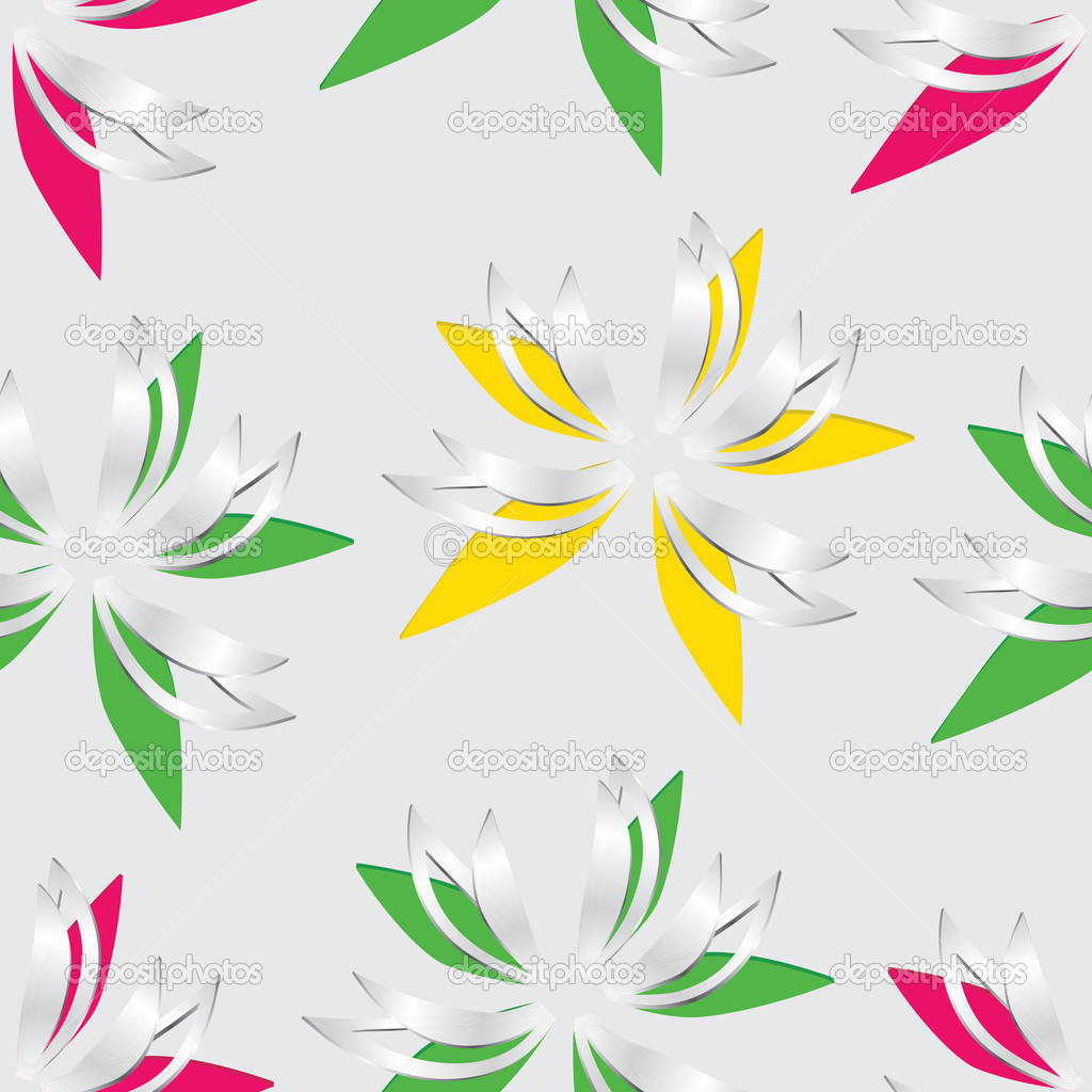 Flower Cut Out Of Paper Seamless Stock Vector Gray1311 25184489