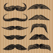 Fotografie Different types of mustaches. Retro style.