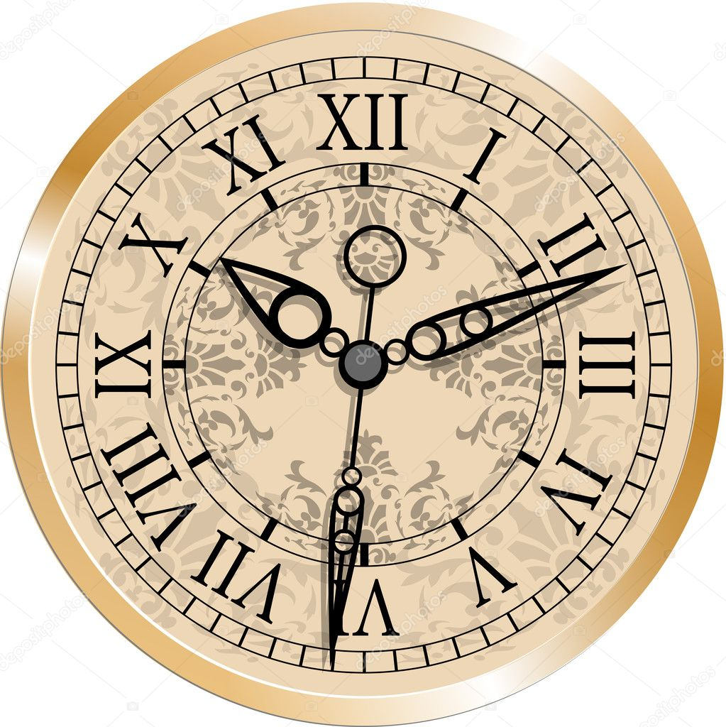 Antique Clock Stock Vector 169 Gray1311 32466463