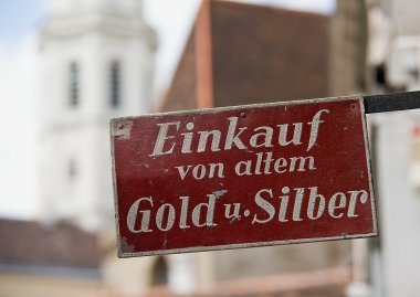 Old sign in Vienna