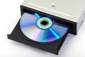 externí cd dvd vypalovačka scénář izolované na bílém