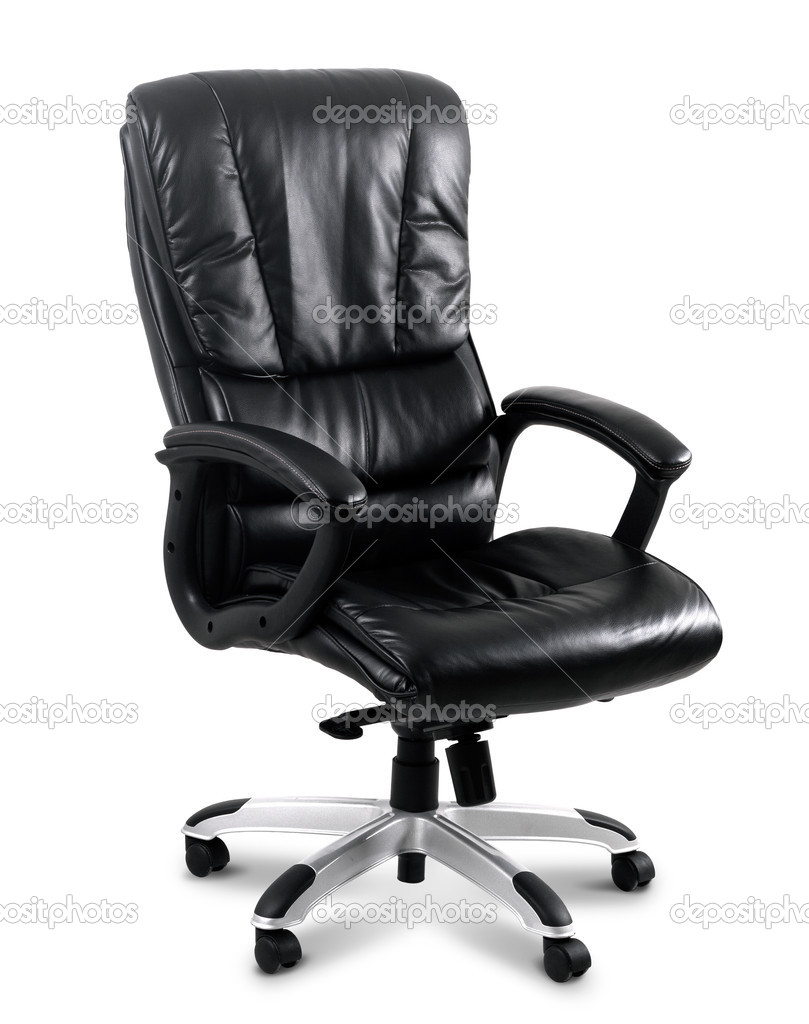Black leather computer chair photo by brontazavra