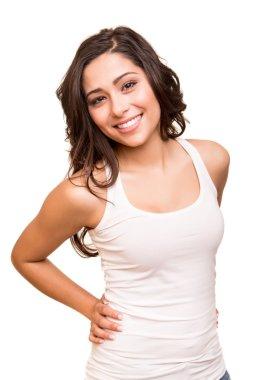 Young smiling woman posing