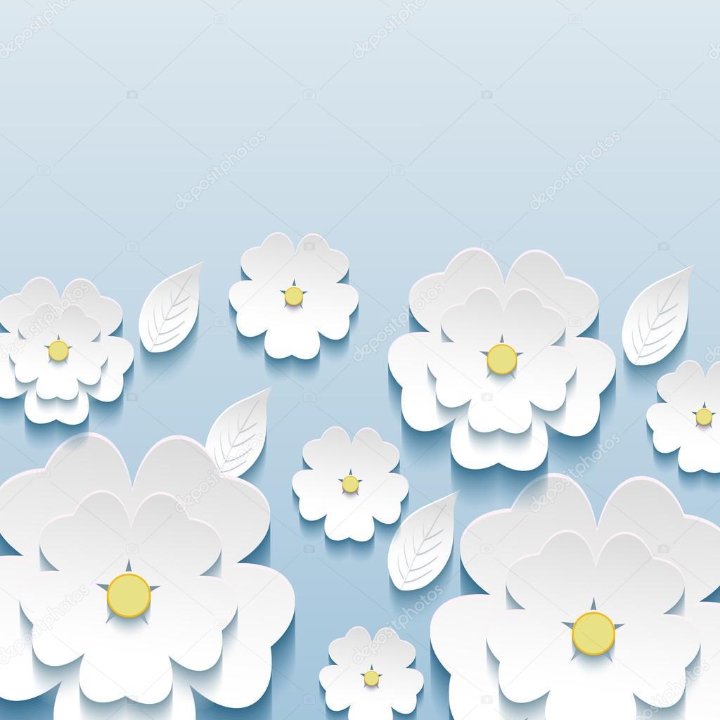 3 d の花桜のスタイリッシュな壁紙 — ストックベクター © silvionka