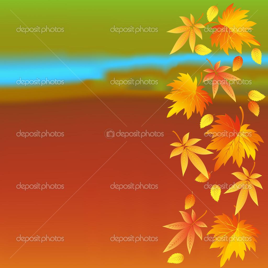 Sfondi colorati d 39 autunno con foglie vettoriali stock for Sfondi per desktop colorati