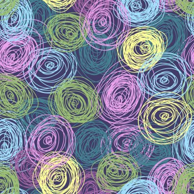 Motley scribble seamless pattern