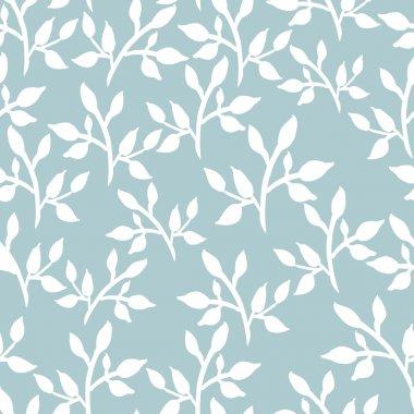 Stylized twigs seamless pattern