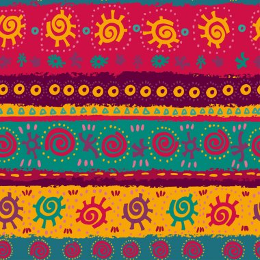 Bright ethnic seamless pattern