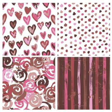 Collection of rustic seamless patterns
