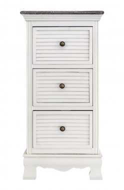 White wooden drawers cabinet
